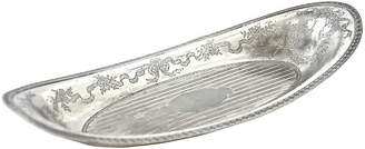 One Kings Lane Vintage Antique Oval Silver-Plate Bread Tray - Design Line