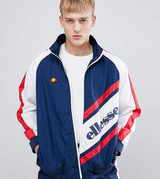 Ellesse Track Jacket With Panel Logo In Navy