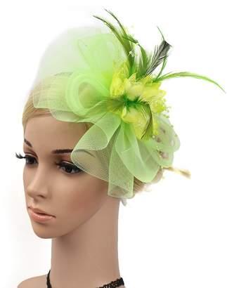 Yiweir Women Fashion Headpiece Accessory Fascinator Hat Clip Derby