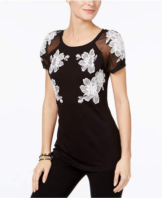 INC International Concepts Embroidered Illusion T-Shirt, Only at Macy's $69.50 thestylecure.com