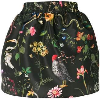 RED Valentino botanical-print mini skirt