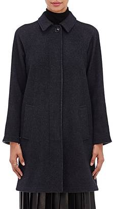 Giorgio Armani Women's Double-Faced Cashmere Melton Coat-BLACK $7,895 thestylecure.com