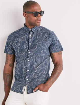Lucky Brand Saturday Stretch Tropic Palm Shirt