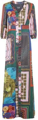 Moschino Scarf Print Maxi Dress