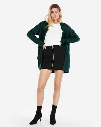Express Zip Front A-Line Mini Skirt