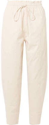 Bassike Cropped Cotton-canvas Tapered Pants - Cream