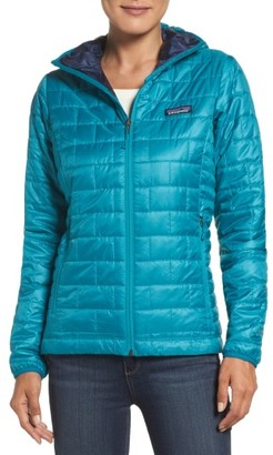 Women's Patagonia Nano Puff Hooded Water Resistant Jacket $249 thestylecure.com