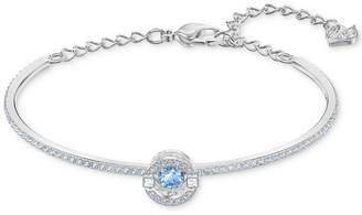 Swarovski Silver-Tone Cubic Zirconia Bangle Bracelet