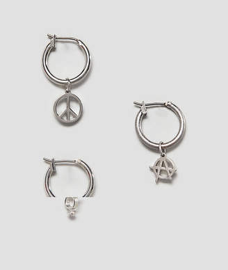 Cheap Monday Protest Earrings Set In Silver