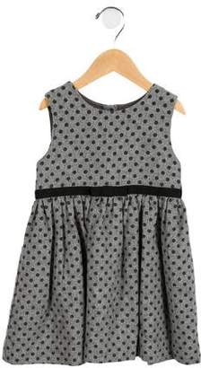 Rachel Riley Girls' Sleeveless Polka Dot Dress