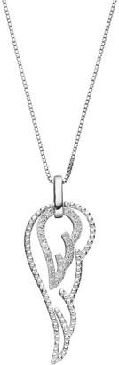 Sterling Silver 1/6 Carat T.W. Diamond Angel Wing Pendant