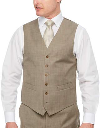 STAFFORD EXECUTIVE Stafford Executive Super Tan Tic Classic Fit Suit Vest