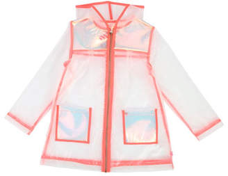 Billieblush Transparent Hooded Raincoat, Size 4-12
