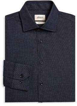 Giorgio Armani Micro Check Button-Down