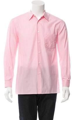Prada Gingham Button-Up Shirt