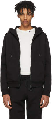 Off-White Black Striped Zip Hoodie