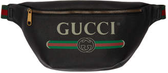 Gucci Black Medium Logo Belt Pouch