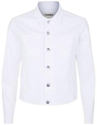 L'Agence Janelle Raw Hem Denim Jacket