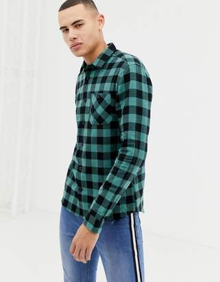 Buffalo David Bitton D Struct D-Struct Twin Pocket Gingham Flannel Shirt