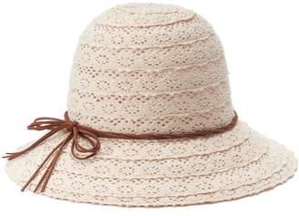 Mudd Women's Crochet Cloche Hat