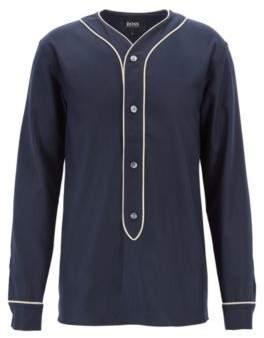 BOSS Hugo Fashion Show Capsule felt shirt contrast piping M Dark Blue