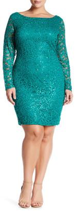 Marina Sequin Lace Dress (Plus Size) $139 thestylecure.com
