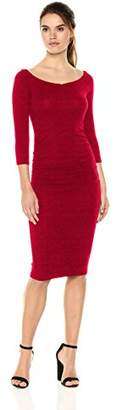 Michael Stars Women's Collection 3/4 Sleeve Off-The-Shoulder Dress