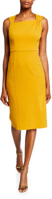 Donna Morgan Asymmetric-Neck Sleeveless Sheath Dress