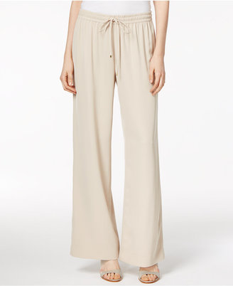 Calvin Klein Pull-On Wide-Leg Pants $89.50 thestylecure.com