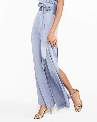 Express High Waisted Side Slit Wide Leg Pant