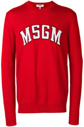 MSGM logo patch sweater