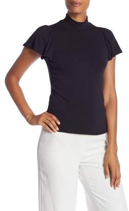 Rebecca Taylor Mock Neck Jersey Top
