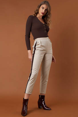 Na Kd Trend Side Stripe Fitted Pants Beige/Brown