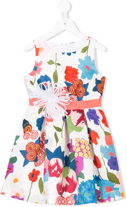 Liu Jo Kids embellished floral-print dress