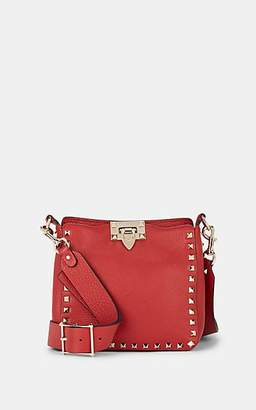 Valentino Women's Rockstud Mini Leather Crossbody Bag - Red