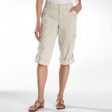JCPenney St. John's Bay® Cropped Cargo Pants