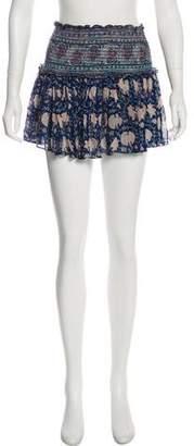 LoveShackFancy Ruffle Tiered Mini Skirt