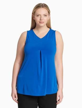 Calvin Klein Plus Size V-Neck Sleeveless Top