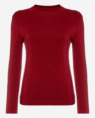 N.Peal Mock Neck Long Sleeve Cashmere Sweater