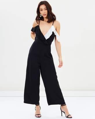 Missguided Cold Shoulder Culotte Jumpsuit