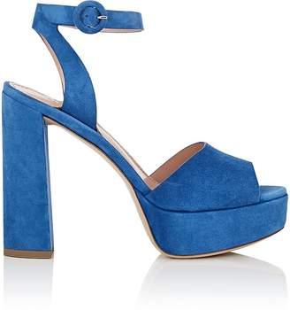 Barneys New York Women's Suede Platform Ankle-Strap Sandals