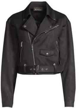 The Kooples Faux Leather Moto Jacket