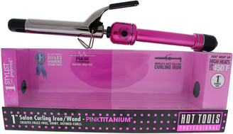 Hot Tools Pink & Silver Pink Titanium Salon Curling Iron/Wand