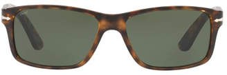 Persol Rectangular Propionate Sunglasses with Solid-Color Lenses