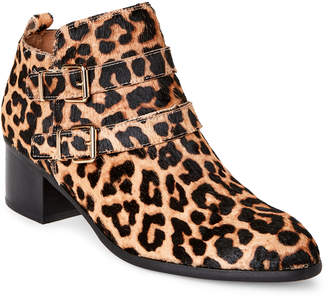 Franco Sarto Leopard Raina Double Buckle Booties