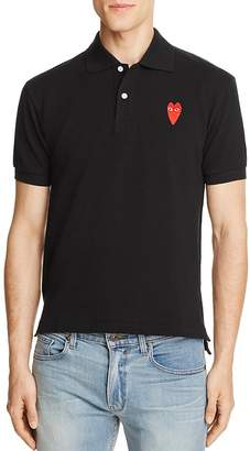 Comme des Garcons Long-Heart Slim Fit Polo Shirt