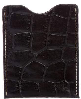Neiman Marcus Embossed Leather Card Holder w/ Tags