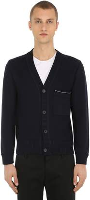 Falke Luxury Two-tone Cotton Knit Cardigan