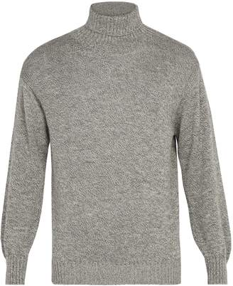 INIS MEÁIN Wool and silk-blend roll-neck sweater