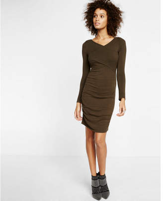 Express ruched crossover front dress $69.90 thestylecure.com
